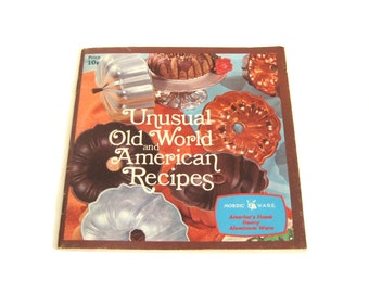 Nordic Ware Recipe Booklet for bundt cake pan, ebelskiver, krumkake iron, & more Unusual Old World American Recipes Nordicware