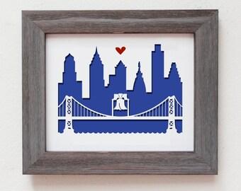 """Philadelphia - Benjamin Franklin Bridge  8x10"""""""
