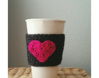 Crochet Coffee Sleeve Cup Sleeve Handmade Coffee Cozy