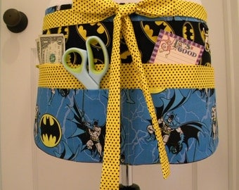 Teacher Aprons-Crafter Vendor Utility Apron-Batman