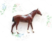 Lead Horse - Brown Iron Cast Antique Animal - Made in England by Britains Ltd
