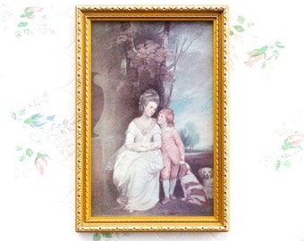Anne The Countess of Albemarie and Her Son - Framed Print - Vintage Picture Frames - Wall Hanging Home Decor