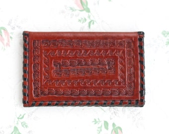 Business Card Holder - Small Leather Wallet