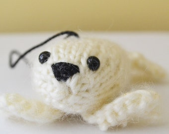 Sally the Seal Ornament Christmas Holiday Winter Knitted Animal