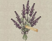Lavender Bouquet. Instant Download Digital Image No.382 Iron-On Transfer to Fabric (burlap, linen) Paper Prints (cards, tags)