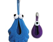 Crochet Pattern-- Hanging Monster Basket --Crochet Pattern
