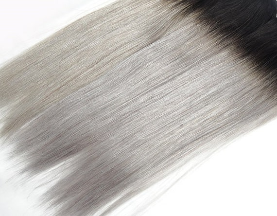 5 star seller black to grey ombre hair extensions silver 5 star seller black to grey ombre hair extensions silver hair grey hair extensions gray ombre hair human hair extensions full set pmusecretfo Choice Image