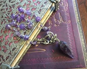 Amethyst Scrying Divination Necklace