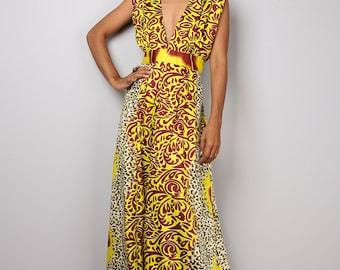 Boho Dress - Sleeveless Summer Dress  - African Print Maxi Dress : Oriental Secrets Collection