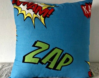 Wham Zap Comic Style Cushion