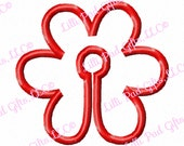 G-Tube Cover-Flower - Applique - Machine Embroidery Design - 2 sizes