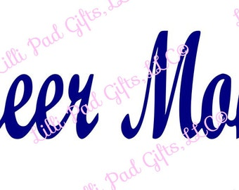 Cheer Mom Cut File - Instant Download - SVG and DXF for Cameo Silhouette Studio Software & other Cutter Machines