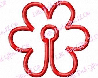 G-Tubenie Cover- Red Flower - Applique - Machine Embroidery Design - 2 sizes