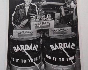50's Bardahl Oil Hot Rod Drag Racing Photo Advertising 5x7 Original Vintage Hep Cat