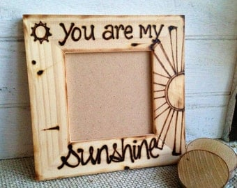 Sonogram Frame Expecting Boyfriend Girlfriend Autism Awareness Friendship Wood picture frame You are my Sunshine Parent Child farmhouse