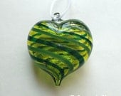 Assorted Green Stripe Heart Ornament : DISASTER RELIEF