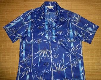 Mens Vintage 70s Tropicana Asian Fusion Bamboo Hawaiian Aloha Shirt - XL -  The Hana Shirt Co