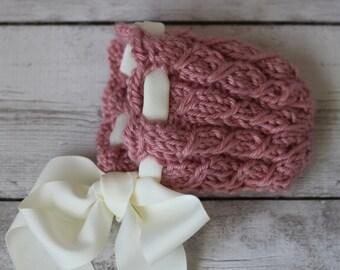 Pink Newborn Bonnet