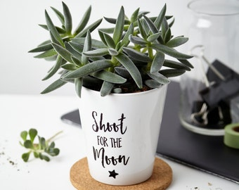 Shoot for the moon Plant Pot