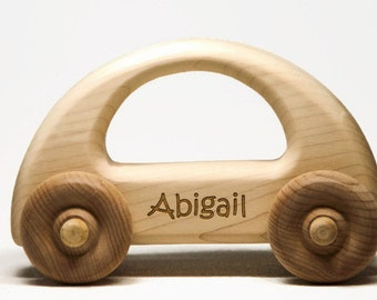 Wooden Toy Car - Personalized Toy Car, Childrens Toy Car, Baby Gift, Baptism Gift, Birthday Gift