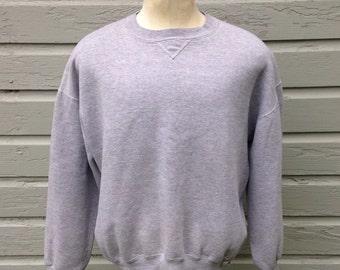 1980's blank v-stitch sweatshirt, short XL