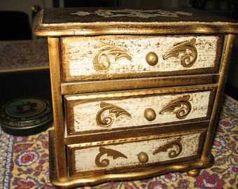 Florentine 3 Drawer Jewelry Chest
