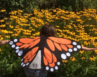 BUTTERFLY WINGS / butterfly costume wings / soft and flappable / made with love