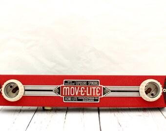 Mov-E-Lite Handheld Light Bar by Acme Lite Co. Chicago IL., Vintage Movie Making Light Bar, Vintage Photography Light Bar, Handheld Lighting