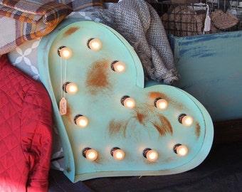 Heart Marquee light