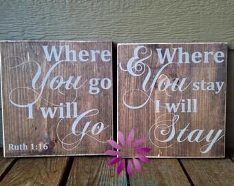 Where You Go I Will Go - Duo Set