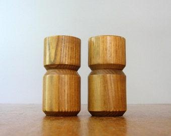 Mid Century Michael Lax Copco Salt Shaker / Pepper Grinder Set