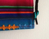 gym back in south american striped fabric / black strings