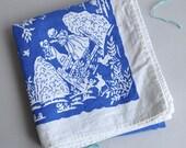 Blue & White Bo-Peep Tablecloth