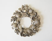 Metal Sea Trivet Wreath, Seahorse, Seashells, Starfish, Lobster, Mermaid Life, Nautical Decor