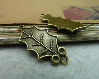20pcs 16x35mm The Leaves Antique Bronze Retro Pendant Charm For Jewelry Bracelet Necklace Charms Pendants C7122