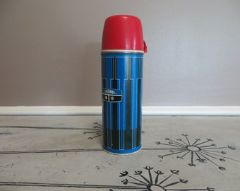 Vintage Retro Thermos Blue and Black Thermos King Seeley 19741 Thermos Gift For Him Fathers Day Gift Camping