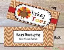 Thanksgiving Turkey Toes Bag Treat Topper - Printable - School Class Treat - Teacher Gift - Candy Corn!
