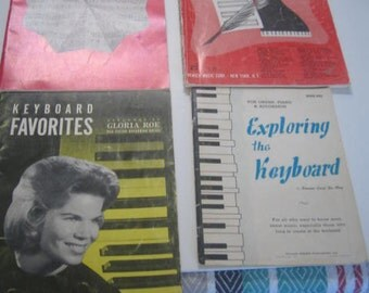 Vintage  Music Books for the Piano (5)