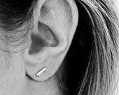 silver double bar studs | F E M M E collection