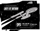 STAR TREK Themed Party Invitation, Star Trek Birthday Invite - 5x7 PRINTABLE