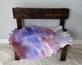 Purple Felted Wool Layer/ Mat/ Basket Stuffer Photo Prop, Wool Baby Blanket, READY TO SHIP
