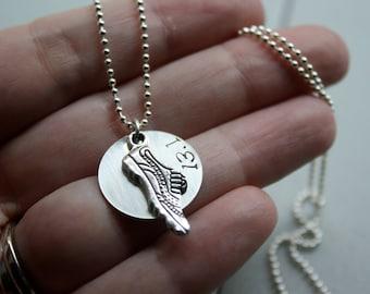Half Marathon Necklace, 13.1 Jewelry, Running Shoe Charm, Distance Runner Gift