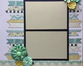 Tell Me a Story Pre Made 1 Page 12x12 Scrapbook Layout