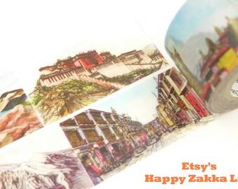 Lhasa - City Series - Japanese Washi Masking Tape - 25mm Wide - 11 Yards