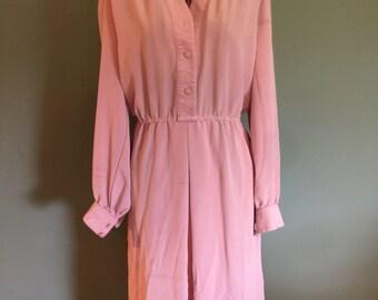 1970's Dusty Lavender dress, Large