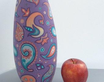 Indian Fairy-tale vase.  Polymer Clay vase. Paisleys vase.