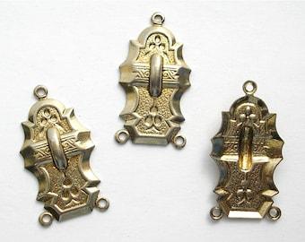 6 Pieces Deco Style Antiqued Gold Connectors