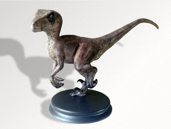 Velociraptor Dinosaur Sculpture In Motion