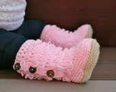 Pink Crochet Boots, Infant Boots