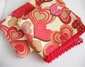 Cotton kitchen towel set of 2, waffle weave towel, dish tea towel, cotton dish towels, hand towel, towel cotton